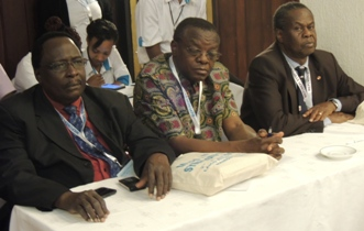 ACHESTs, Prof. Francis Omaswa, Dr. Patrick Kadama and Dr. Peter Eriki at the Symposium in Nairobi