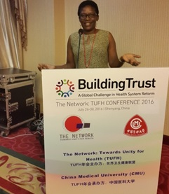 Dr. Elsie Kiguli-Malwadde making a presentation during the workshop in China