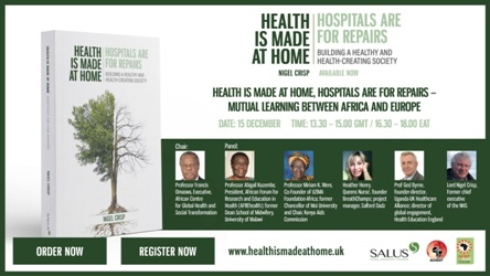 Flyer showing the panel of the Health is Made At Home Webinar