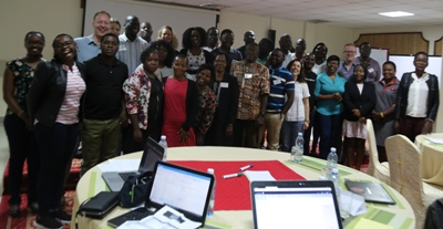 Health Systems Advocacy Partners at the Outcome Harvesting Training workshop in Nairobi
