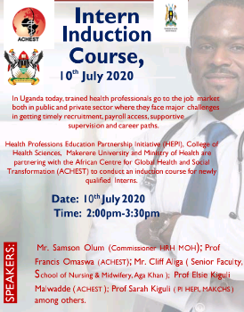 IMAGE OF THE FLYER FOR THE INDUCTION COURSE VIRTUALLY HELD ON JULY 10 2020