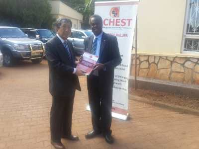Japans Ambassador to Uganda H.E. Kazuaki Kamedapays a courtesy call to African Centre for Global Health and Social Transformation ACHEST
