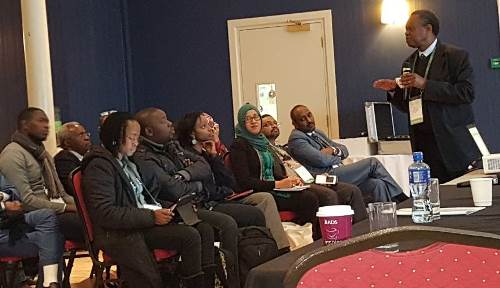 Prof. Francis Omaswa Speaking at one of the forum sessions at the 4th Global Forum on Human Resources for Health in Dublin