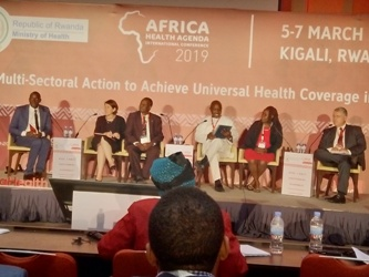 Prof. Omaswa and other participants at AHAIC in Kigali