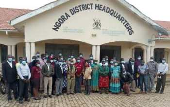 Project team and district leaders at Ngora district headquarters