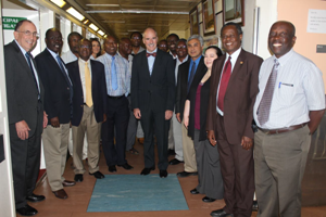 Omaswa Francis ED ACHEST2nd from the right at the University of Zimbabwe site visit